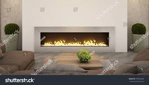 living room fireplace relax zone family stock illustration