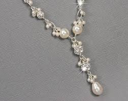 pearl bridal necklace images Pearl bridal jewelry etsy jpg
