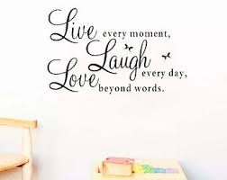 Quotes Wall Decor Live Laugh Love Etsy