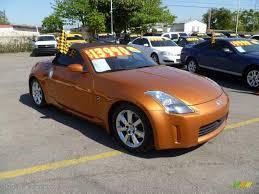 orange nissan 350z 2004 le mans sunset metallic nissan 350z touring roadster