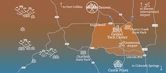 Lone Tree Colorado Map by Top Employers Denver South Economic Development