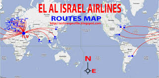 Easyjet Route Map by International Flights El Al Route Map