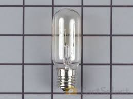 ge refrigerator light bulb replacement ge wb36x10003 light bulb 40w 130v partselect