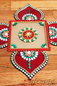 rangoli decoration rhinestone diwali decor inspired acrylic floor