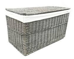 Baby Storage Baskets Strong Wicker Baby Nursery Storage Chest Trunk Blanket Box