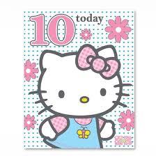 hello kitty age 10 birthday card gem 002 0103 174144 hello
