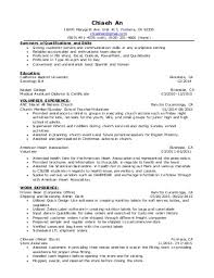 volunteer resume resume work first resume examples cv with no
