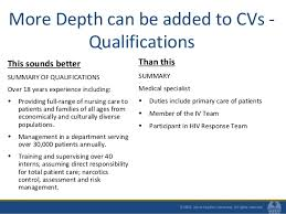 resume summary of qualifications management resumes and cvs for mph students fall 2010