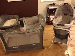 Playpen With Changing Table And Bassinet Graco Day2night Sleep System Play Pen Bassinet Change Table