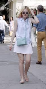 light blue crossbody purse dakota fanning carries a light blue celine trio bag in nyc 2