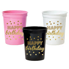 party cups happy birthday party cups set of 25