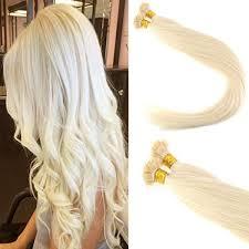keratin tip extensions flat tip hair extensions human hair remy 60 platiun