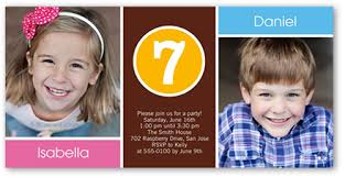 brother and sister 4x8 photo twin birthday invitations shutterfly