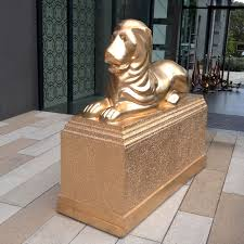 gold lion statues staging dimensions brisbane prop hire brisbane event theme