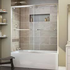 Shower Tub Door by Dreamline Encore 56 In To 60 In X 58 In Framed Bypass Tub Door