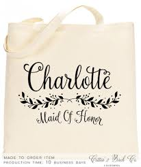 bridal party tote bags personalized bridesmaid tote personalized wedding tote bag