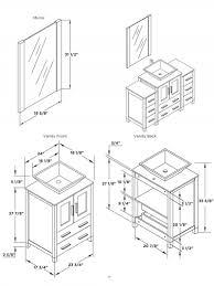 Kitchen Cabinets Specs Standard Sink Dimensions Bathroom Best Sink Decoration