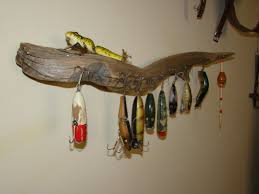 bass fishing home decor find driftwood to hang old fishing tackle ben u0027s fishing wall