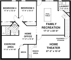 basement plan the brookwood 1156 2 bedrooms and 2 baths the house designers