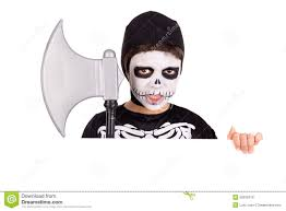 Boys Skeleton Halloween Costume Boy In Halloween Skeleton Costume Stock Photo Image 50032418