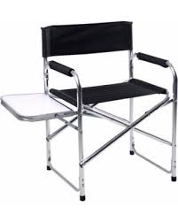 Folding Directors Chair With Side Table Amazing Deal Costway Aluminum Folding Director S Chair With Side