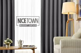 amazon com nicetown bedroom blackout curtains panels window