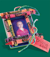crayon photo frame ornament crafty crayons