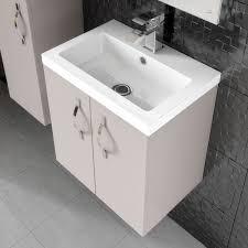 Hudson Reed Bathroom Furniture Hudson Reed Apollo Gloss Grey Floor Standing Vanity Unit 400mm