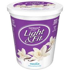Dannon Light Fit Vanilla Nonfat Light Fit Yogurt 32 Oz