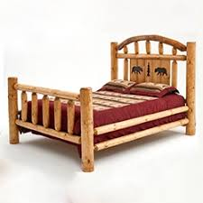 Wood Log Bed Frame Real Rustic Beds Log Beds Barnwood Beds Of All Sizes