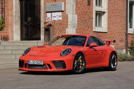 first porsche car 2018 porsche 911 gt3 first drive review autoguide com news