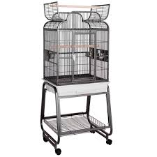 amazon black friday bird cages hq opening scroll top with cart stand bird cage in platinum petco
