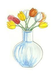 A Flower Vase How To Draw Flower Vase Volvoab