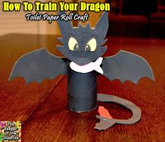 how to train your dragon toothless toilet paper roll craft the