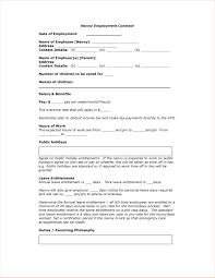 work contract template resume template