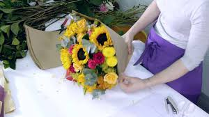 Enchanted Rose That Lasts A Year How To Arrange An Enchanted Roses And Sunflowers Bouquet Youtube