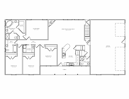 4 bedroom ranch floor plans first floor plan of ranch house plan