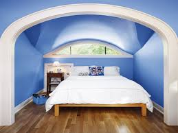 lavish blue ceiling and wall painted with large master white blue ceiling and wall painted with large master white covers bed on wooden flooring as well as curved glass windows in modern blue attic bedroom ideas