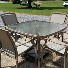patio table with 4 chairs find more patio table 4 chairs taupe in color size 43x43 table top