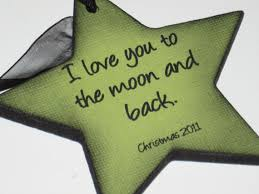 i you to the moon and back ornament for