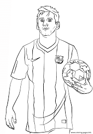 Lionel Messi Soccer Coloring Pages Printable Soccer Coloring Page