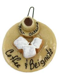coffee beignets salt dough ornament fleurty