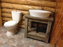 Rustic Faucets Bathroom by Bathroom Diy Ideas Rustic Remodeler With F Untreated Wooden Sink