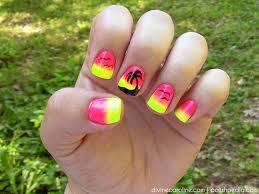 summer nail sunset palm tree nail design more com