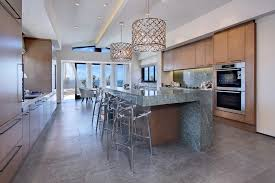 Coastal Ceiling Lights In Chandelier Look Los Angeles Style Kitchen Decorators