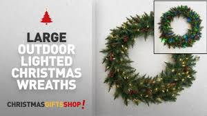 large outdoor lighted wreaths ideas 36 battery operated