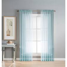 Sheer Teal Curtains Window Elements Sheer Sheer 56 In W X 95 In L Rod Pocket