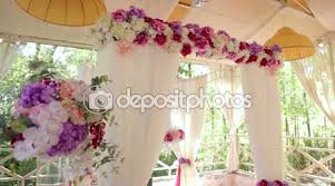 wedding arches and columns wedding arch of four columns with floral compositions on columns
