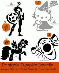free printable pumpkin stencils avengers kitty disney
