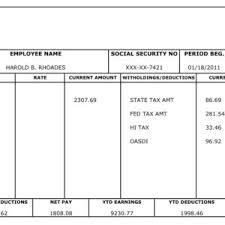pay stub and salary slip template free sample helloalive
